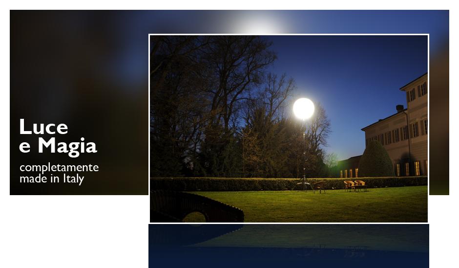 Illuminazione temporanea per eventi e location noleggio palloni