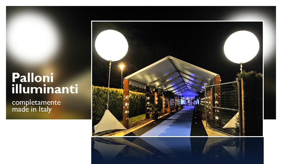 Illuminazione temporanea per eventi e location: noleggio palloni